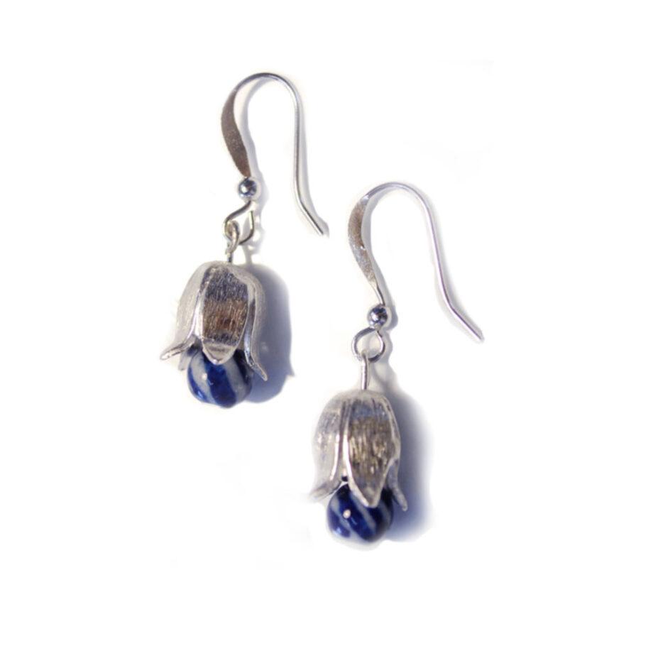 silver tulip earrings web