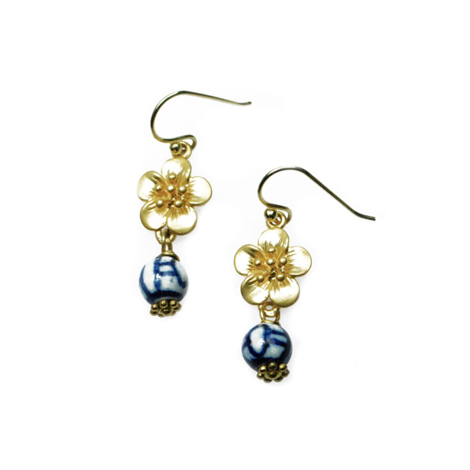 floral gold earrings web