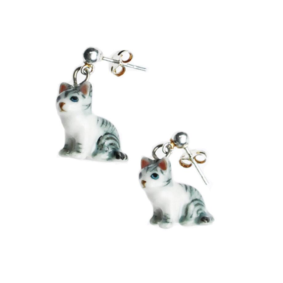 grijze kat steker