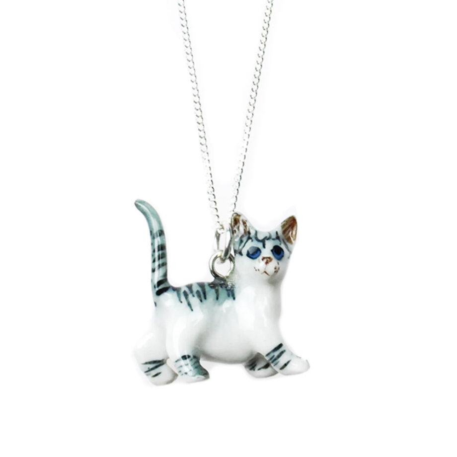 grijze lopende kat hanger