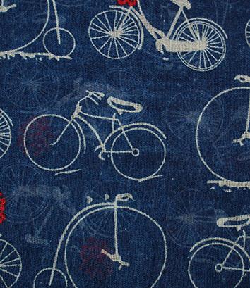 fiets sjaal blauw detail