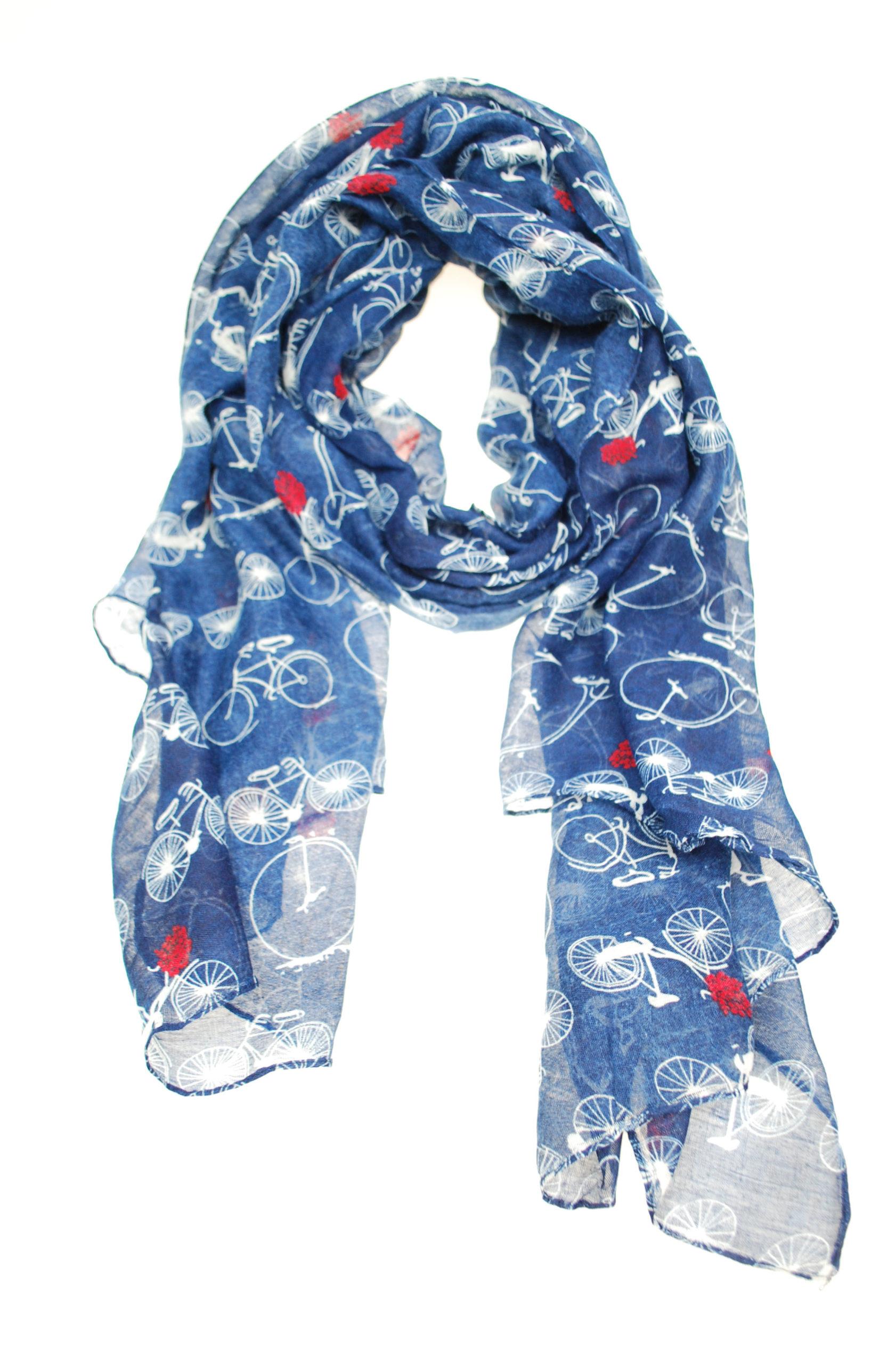 fiets sjaal blauw