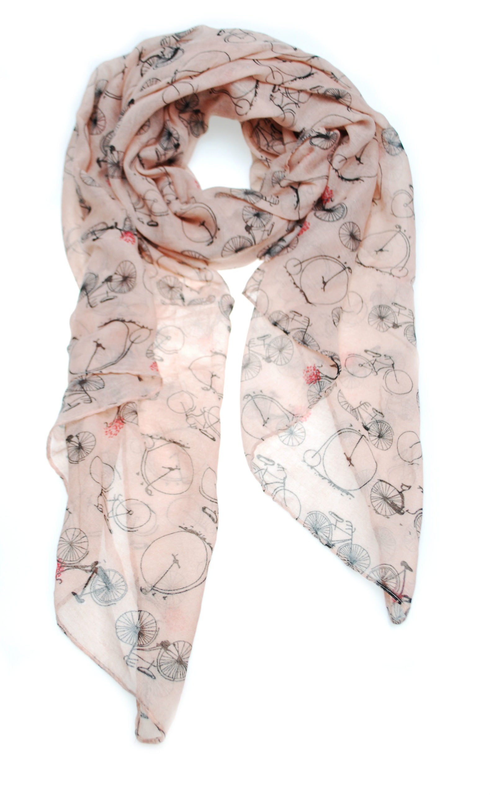 sjaal fiets roze