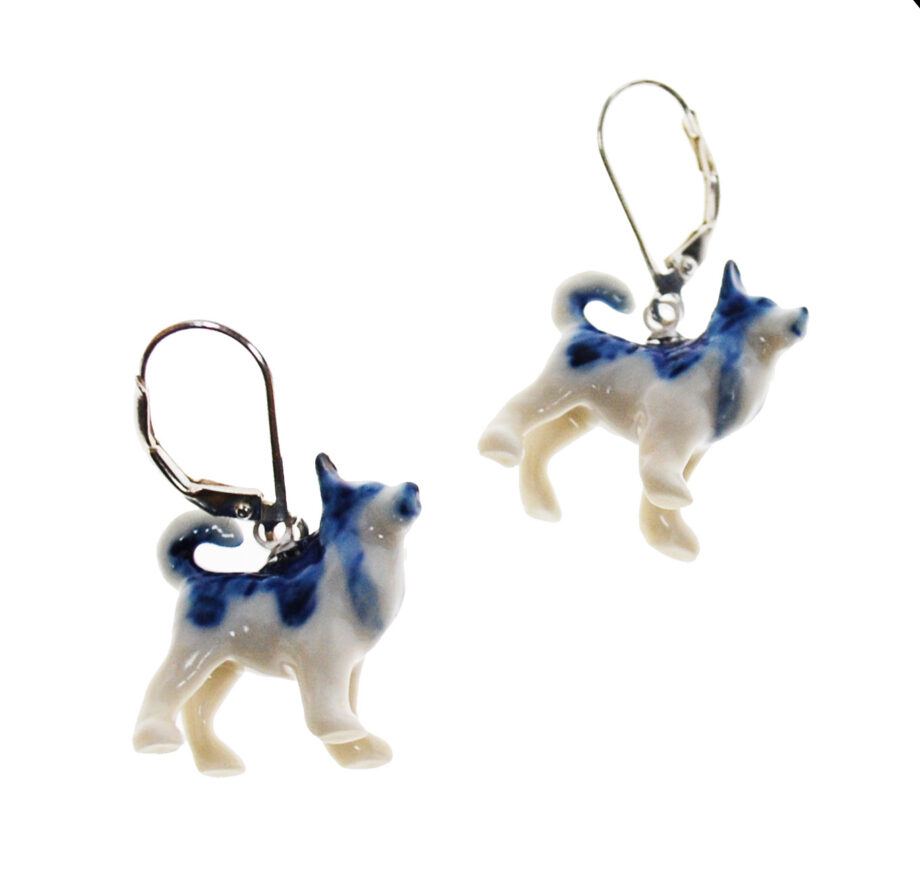 dog earring husky